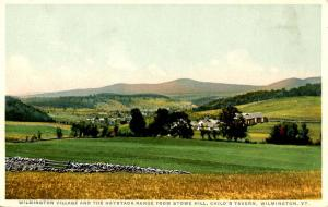 VT - Wilmington. Village, Haystack Range from Stow Hill, Child's Tavern