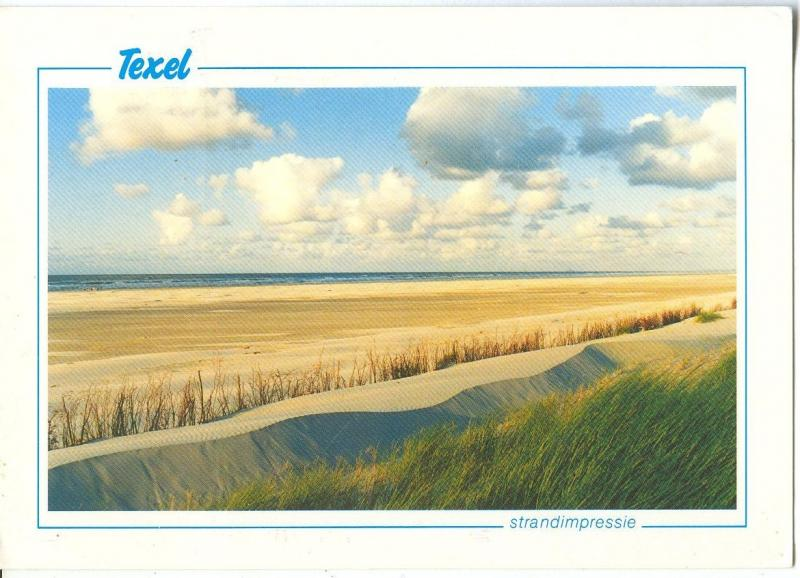 Holland, Netherlands, Texel, Strandimpressie, used Postcard