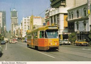Bourke Street Melbourne Australia Postcard
