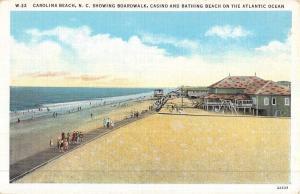 Carolina Beach North Carolina Casino Bathing Beach Antique Postcard K50584