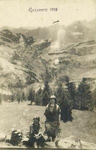 france, GAVARNIE, Two Women in the Mountains (1926) RPPC Postcard