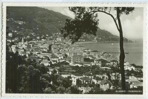 Italy, Alassio, Panorama, used real photo Postcard
