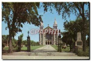 Postcard Moderne St Boniface Cathedral Winnipeg Near Monitoba Canada