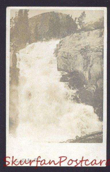 RPPC BADGER CALIFORNIA PARADISE VALLEY MIST FALLS REAL PHOTO POSTCARD CALIF.