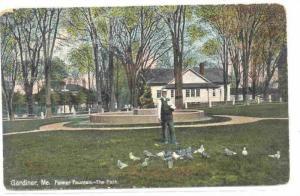 Palmer Fountain- The Park, Gardiner, Maine PU-1909