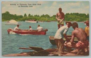 Kentucky~Dam State Park~Lake~Boat Docks~Vintage Postcard
