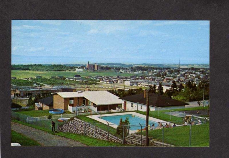 PQ QC City View Pool Riviere du Loup Quebec Canada Carte Postale Postcard PC