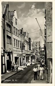 curacao, N.W.I., WILLEMSTAD, Heerenstraat, Main Shopping Street, La Moda (1950s)
