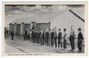 Camp Upton, L.I. N.Y., Recruits Receiving Uniforms