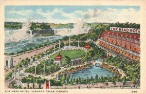 Fox Head Hotel, Niagara Falls, Canada Pub. by F.H. Leslie Postcard