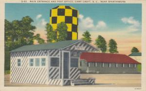 CAMP CROFT , South Carolina, 1940 ; Main Entrance & Post Office