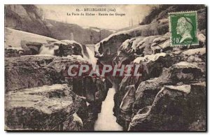 Old Postcard Bellegarde Ain Loss Rhone Entree Gorge