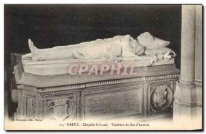 Old Postcard Dreux Chapelle Saint Louis Tomb of Duke & # 39Aumale