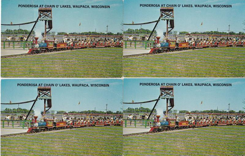 0144 Grabbag Auction 4 Miniature Train Postcards Starting At .99