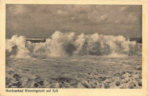 Nordseebad Wenningstedt auf Sylt Sea Waves Postcard