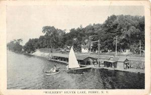 Perry New York Walkers Silver Lake Sailboat Antique Postcard K87560