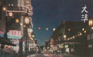 SAN FRANCISCO, California, 1950-60s ; Chinatown at night