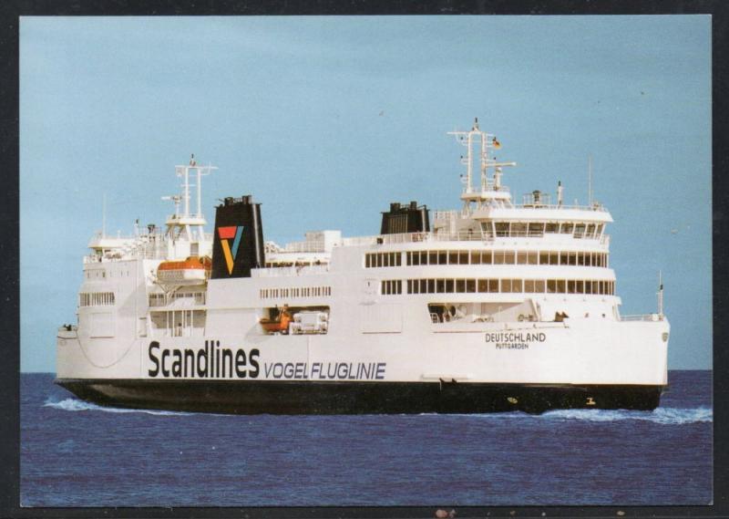 Ship Deutschland Scandline Vogelfluglinie colour card  unused