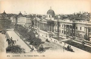National Gallery London England Postcard