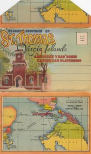 ST THOMAS , Virgin Islands , 30-40s ; Folder Postcard