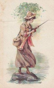 Woman Fishing , 00-10s