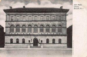 Public Library, Newark, New Jersey, Early Postcard, Unused, Souvenir Postcard Co