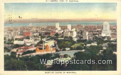 Montreal Canada, du Canada Central Park, Quartier Centre  Central Park, Quart...
