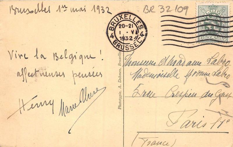 BR32109 Bruxelles Palais du Roi belgium