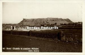 syria, HOMS, Citadel and Military Cemetery (1930s) RPPC
