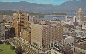 Aerial View Hotel Georgia, Vancouver, British Columbia, 1940-60s