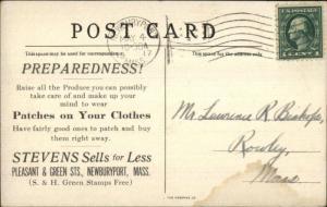 Newburyport MA Stevens Patches S&H Green Stamps Overprint Ship Postcard