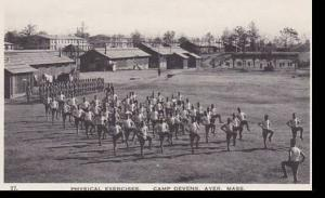Massachusetts Ayer  Physical Exercises Camp Devens  Albertype
