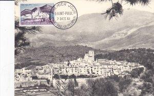 SAINT-PAUL, Alpes Maritimes, France, PU-1961; Vue Generale