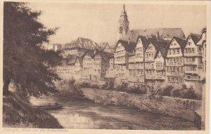 TUBINGEN, Germany, 1900-1910's; Blick Von Der Neckarbrucke