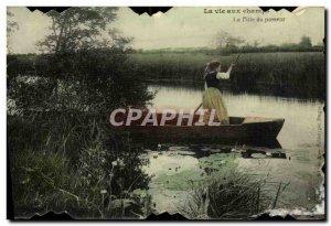Old Postcard Life Champs Girl Folklore Treader