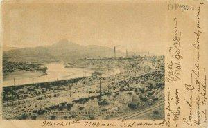 El Paso Texas Mining Smelter Rio Grande River 1906 Postcard undivided 21-8289