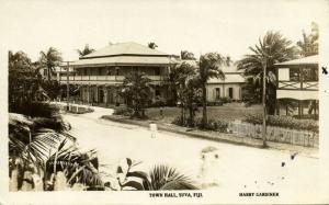 fiji islands, SUVA, Town Hall (1930s) Harry Gardiner The Rose RPPC
