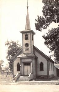 Rockwell Iowa~Old, Country Wooden First Baptist Church Built 1885 RPPC 1940s