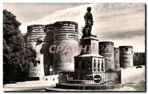 Old Postcard Angers Chateau and Statue of King Rene