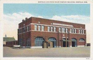 Nebraska Norfolk Norfolk Live Stock Sales Company Building 1944 Curteich