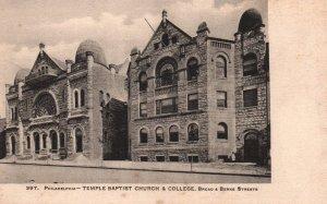 Temple Baptist Church and College,Phildelphia,PA BIN