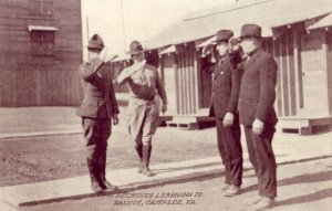 RECRUITS LEARNING TO SALUTE, CAMP LEE, VA.
