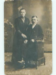 Old rppc GROUP OF PEOPLE Great Postcard AB1459