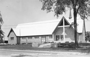 Waverly Iowa~Visitors Welcome @ First Methodist Church~Sign in Front RPPC 1961