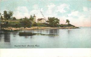 Beverly Massachusetts Hospital Point 1907 Postcard Leighton 12691