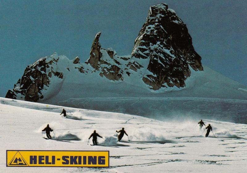 HELI-SKIING , LOBSTER CLAW run, Purcell Mountains , B.C. , Canada , 60-80s