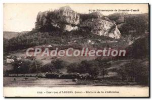 Old Postcard Rochers De La Chatelaine Arbois