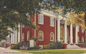 Florida Saint Petersburg First Presbyterian Church 1954