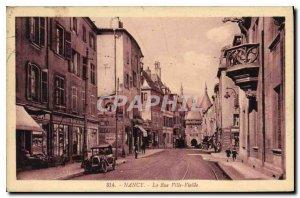 NANCY Postcard Old Street Old Town