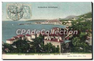 Old Postcard Menton Vue Generale De Garavan Bay